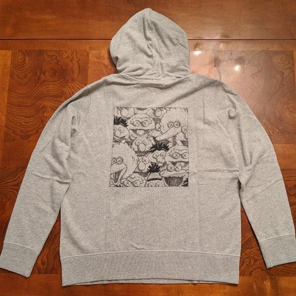 fee0d68b09b Uniqlo Tops | Kaws X Sesame Street Graphic Sweatshirt Hoodie | Poshmark